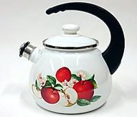 Чайник эмалированный со свистком (2.5 л) Epos Ароматный, арт. 2711/2Ч