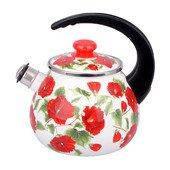 Чайник эмалированный со свистком (2.5 л) Epos Бежевая каркаде, арт. 2711/2Ч