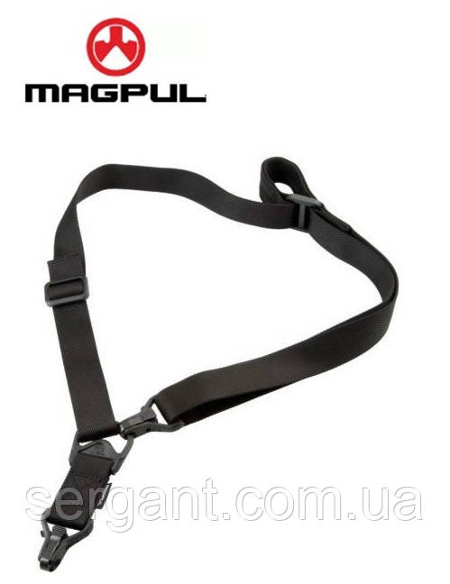 Тактический оружейный 1-2 точечный ремень Magpul MS3 МОЕ (США) - ЧЁРНЫЙ