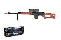 Снайперская винтовка на батарейках 02-A свет, звук, в кор. 79, 2*7, 3*28 см.