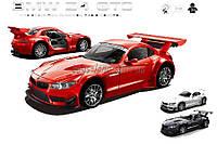 Машина аккумулятор радиоуправление р/у 866-1812B   BMW Z4 GT3 , красн, белая, черн пульт на батарейках , в кор 37*16*15, 5 см.