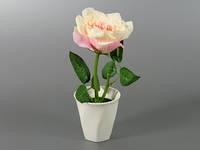 Искусственный цветок в горшке Роза