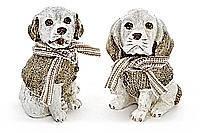 Декоративная статуэтка Собака в шарфике 14.5см