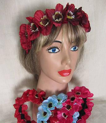 Украинский венок  с цветами