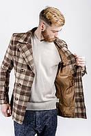 Пальто мужское осеннее №225KF001 (Коричнево-бежевый)