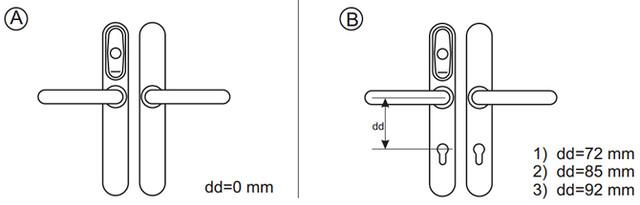 EuroLock EHT (dd=72 мм) — электронный карточный замок для входных дверей
