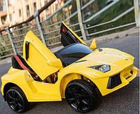 Детский электромобиль 1417 Ламборгини Премиум, 4 Амортизатора, Ручка, жёлтый дитячий електромобіль