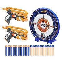 Набор 2 бластера Нёрф с мишенью  NERF N-Strike Elite Precision Target Set, Hasbro из США