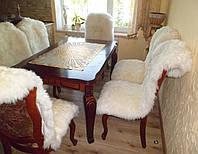 Кожаные накидки на кресла, из стриженные шкур