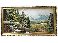 Картина с янтаря Елки в горах (Картины и иконы из янтаря)