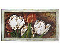 Картина из янтаря Тюльпаны (Картины и иконы из янтаря)