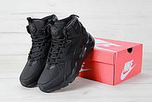 Кроссовки зимние мужские Найк Nike Air Huarache High Top Triple Black. ТОП Реплика ААА класса., фото 2