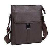 Мужская кожаная сумка почтальонка через плечо, мессенджер   M47-22083C