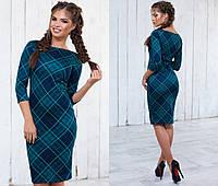 Женское стильное платье с геометрическим узором (4 цвета) электрик, 42