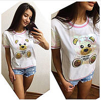 """Женская стильная футболка """"Мишка"""""""