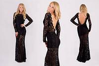 Женское вечернее платье с открытой спиной Вечернее платье, Длинный, С, Весна/осень, Украина, Длинный