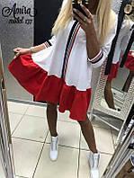 Женское красивое платье свободного кроя (3 цвета) (+большие размеры) бежевый