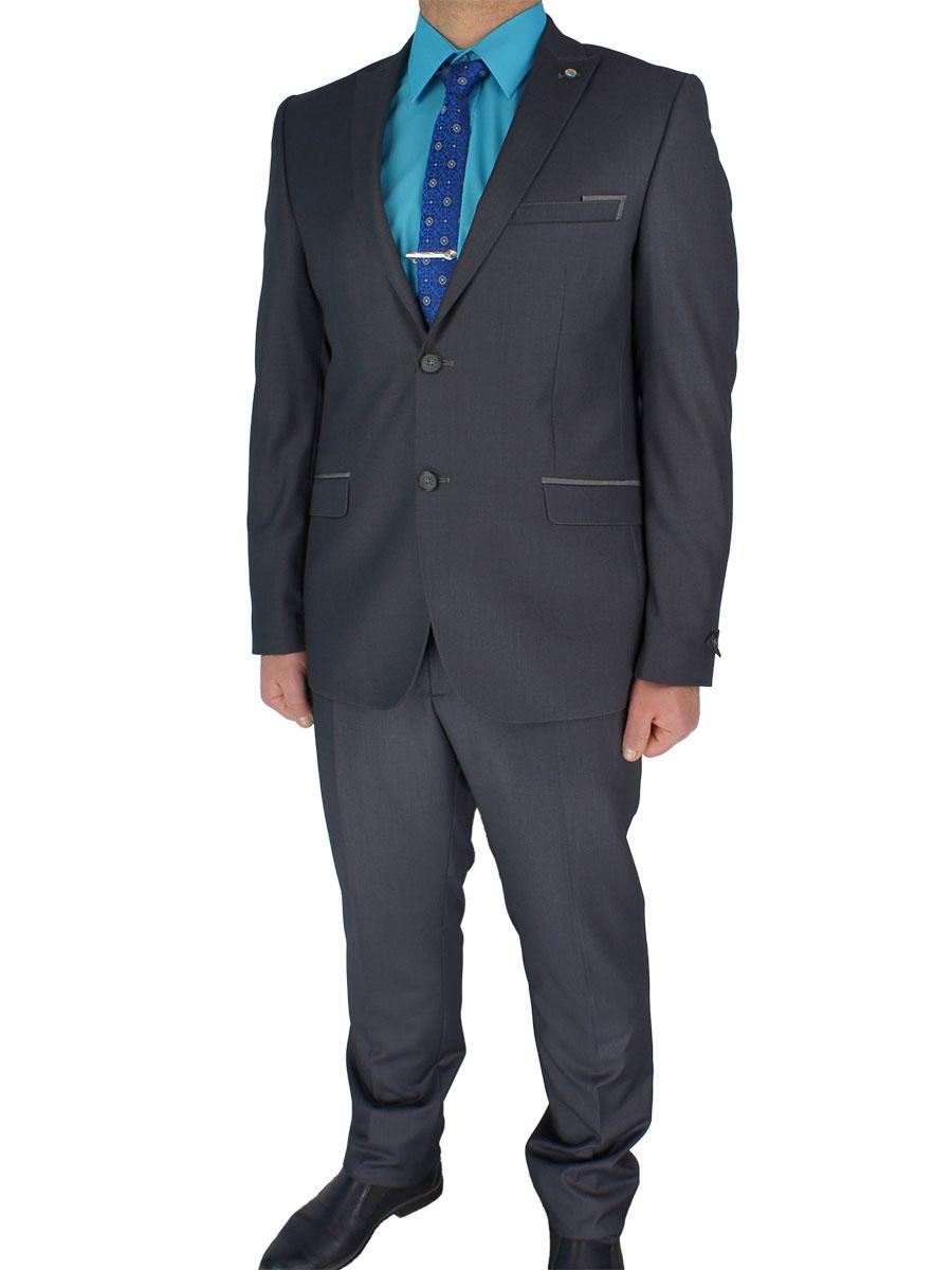 Стильный мужской костюм Paulo Boselli Art.No 350 в сером цвете