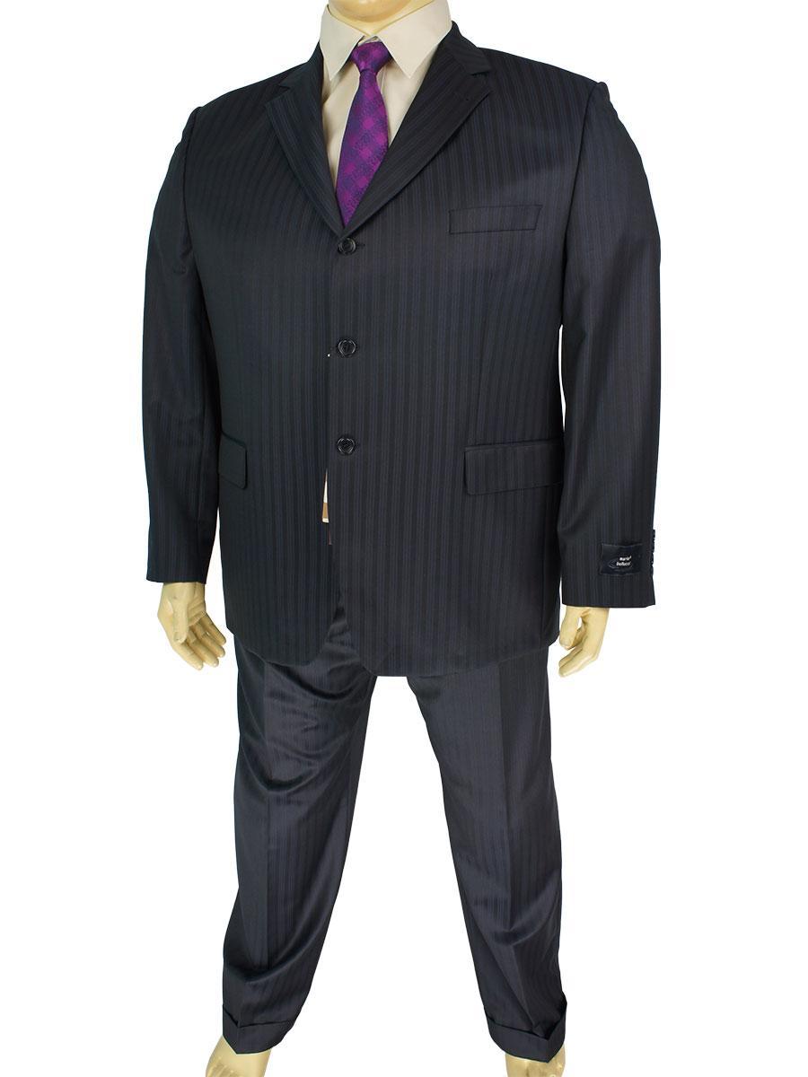 Черный мужской классический костюм Mario Bellucci 4152-1 с темными полосками