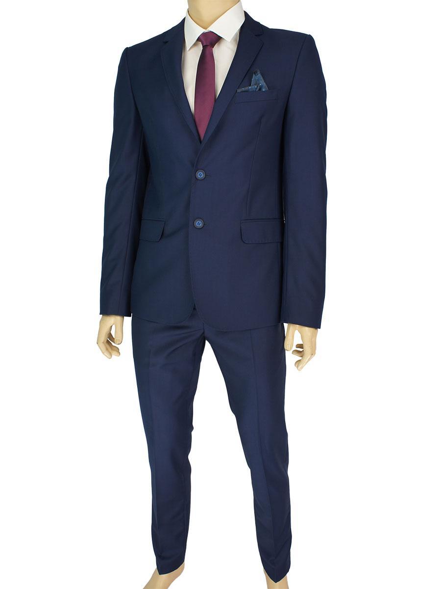 Классический молодежный костюм Legenda Class 24к.4 в темно-синем цвете