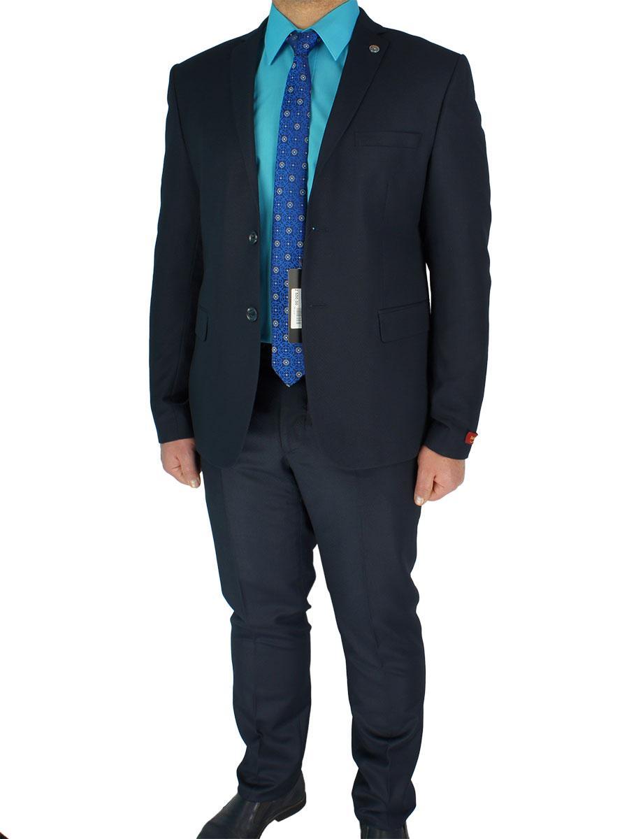Стильный мужской классический костюм Daniel Perry C.222#4 в темно-синем цвете