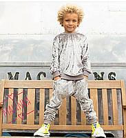 Детский мраморный костюм из велюра (3 цвета)