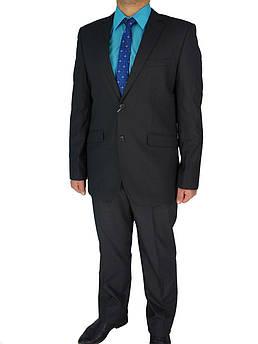 Темно-сірий чоловічий костюм Giordano Conti 292 #1 в дрібну клітинку