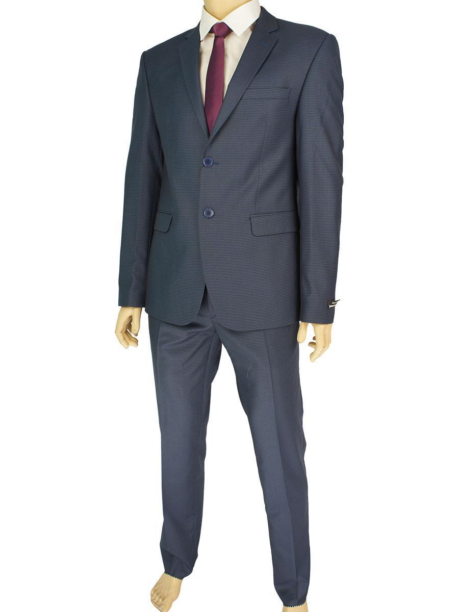 Чоловічий костюм Daniel Perry 079 C-12 синього кольору в смужку