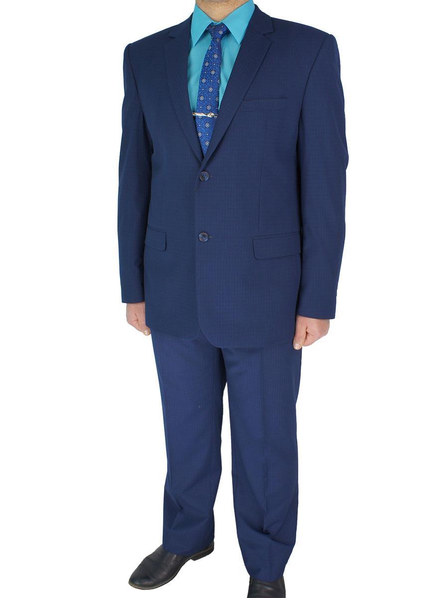 Чоловічий класичний костюм Legenda Class CB-186 # 1/5 синій в клітинку