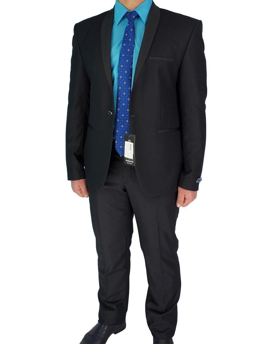 Класичний чоловічий костюм Daniel Perry YT.300 чорного кольору - Магазин  великих розмірів 5XL в f940d02e82c6b