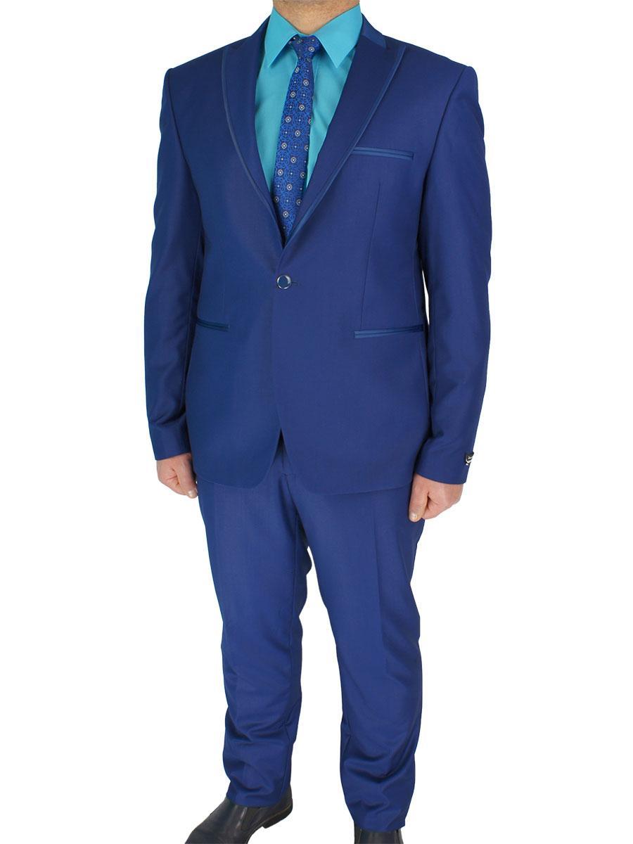 Приталений чоловічий костюм Daniel Perry Paris C.18 синього кольору