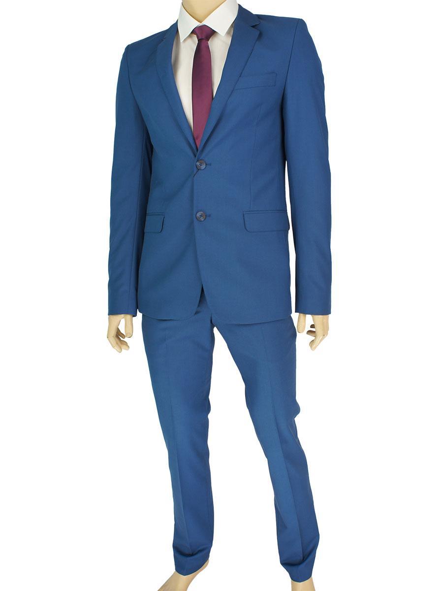 Однотонний чоловічий класичний костюм Legenda Class 2532 # 119 в синьому кольорі