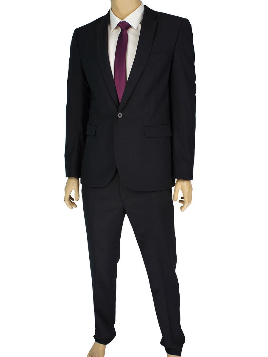 Чорний класичний чоловічий костюм Legenda Class 1227