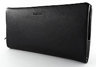 Стильное мужское портмоне холдер Cantlor в черном цвете из натуральной кожи (C-018B)
