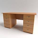 Стол рабочий с выдвижными ящиками СР-7. Письменные столы. Офисные столы, фото 6