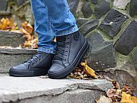 Мужские кожаные кеды кроссовки ботинки Forester 43р. кожа+флис, фото 1