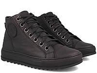 Мужские кожаные кеды кроссовки ботинки Forester New натуральная кожа