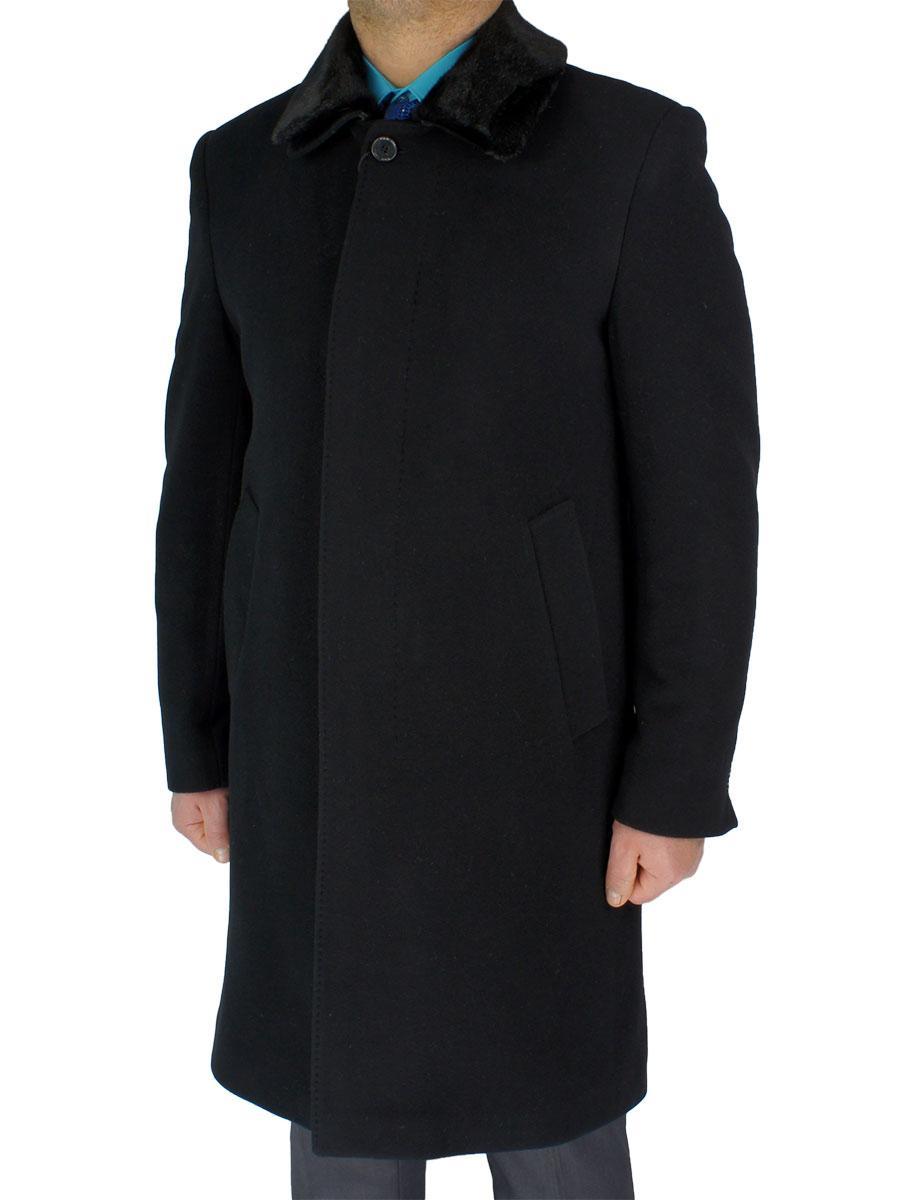 Классическое мужское пальто Black Lion 4210-M01/2650 в черном цвете