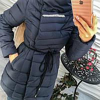 Женское удлиненное пальто с брошью (3 цвета)