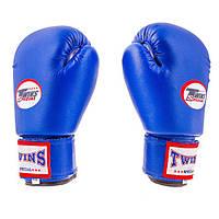 Рукавички боксерські PVC на липучці Twins TW-4B 4 oz синій