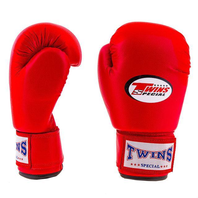Рукавички боксерські PVC на липучці Twins TW-4R 4 oz червоний
