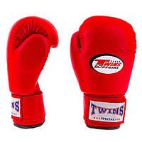 Рукавички боксерські PVC на липучці Twins TW-6R 6 oz червоний