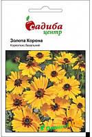"""Семена цветов Кореопсис """"Золотая Корона"""", 0.2 г, """"Садиба Центр"""", Украина"""