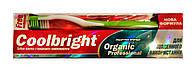 Зубная паста Coolbright Organic Professional с природными компонентами - 175 г. + Зубная щетка