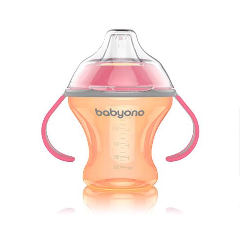 Кружка-непроливайка с мягким носиком BabyOno, 180ml. (13107)