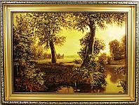 Стильная янтарная картина