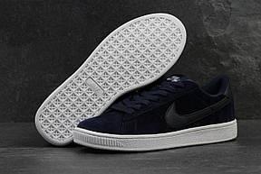 Мужские кроссовки Nike SB замшевые темно синие, фото 3