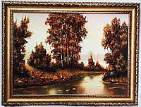 Пейзаж с рекой из янтаря