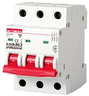 Модульный автоматический выключатель e.mcb.pro.60.3.C 2 new, 3р, 2А, C, 6кА new