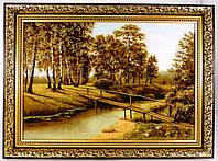 Сельский пейзаж в янтаре